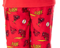 DC Comics Boys' The Flash Superhero Fleece Long Sleeve Raglan Shirt And Pant 2 Piece Kids Pajama Set