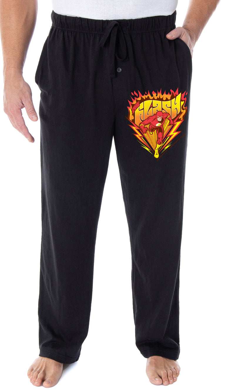 DC Comics Men's The Flash Burning It Up Logo Superhero Loungewear Sleep Pajama Pants