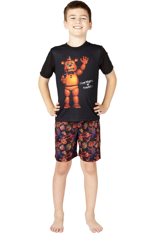 Five Nights at Freddys Mic Night Video Game Pajama 2pc Short Set