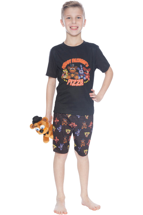 Five Nights at Freddy's 'FNAF Pizza Plushie Freddy, Bonnie and Chica' Pajama Short Set