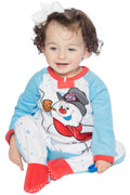 Frosty The Snowman Baby Fleece One Piece Footie Sleeper Holiday Pajama