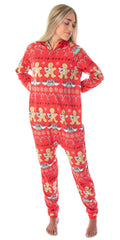 Friends TV Show Womens' Central Perk Ugly Christmas Sweater Hooded Pajama Union Suit