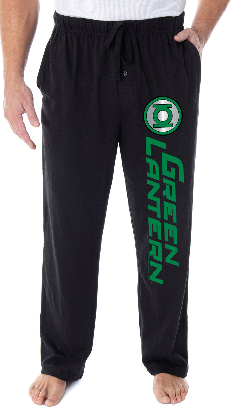 DC Comics Men's Green Lantern Corps Logo Superhero Loungewear Sleep Pajama Pants
