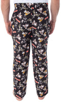 The Gremlins Men's Gizmo Stripe Daffy Mogwai Allover Character Adult Sleep Lounge Pajama Pants