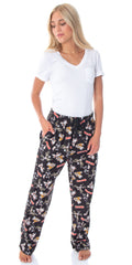 The Gremlins Women's Gizmo Stripe Daffy Mogwai Allover Character Adult Sleep Lounge Pajama Pants