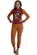 Harry Potter Hogwart's House Crest Tight Fit Adult Cotton Women's Pajama Set