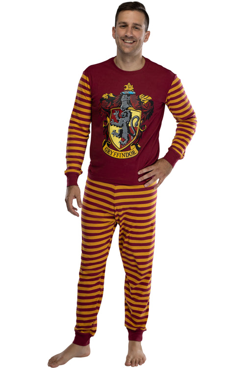 Harry Potter Hogwart's House Crest Tight Fit Adult Cotton Pajama