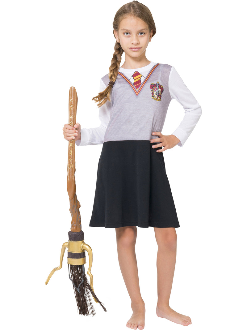 Harry Potter Girls Hermoine Hogwarts Gryffindor Uniform Pajama Nightgown