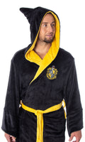 Harry Potter Adult Fleece Plush Hooded Robe - Gryffindor, Slytherin, Ravenclaw, Hufflepuff, Hogwarts