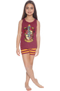 Harry Potter Girls Little Gryffindor House Crest Cotton Tank Top Pajama Short Set