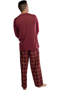 Harry Potter Adult Men's Raglan Shirt And Plaid Pants Pajama Set -Gryffindor, Ravenclaw, Slytherin, Hufflepuff