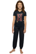 Harry Potter Girls' H Is For Harry Gryffindor Athletic Shirt And Pants 2 PC Pajama Set