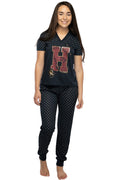 Harry Potter Girls' H Is For Harry Gryffindor Athletic Jogger 2 PC Pajama Set