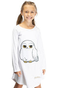 Harry Potter Pajama Girls' Hedwig Owl Micro Raschel Fleece Hi-Lo Nightgown Costume (18/20)