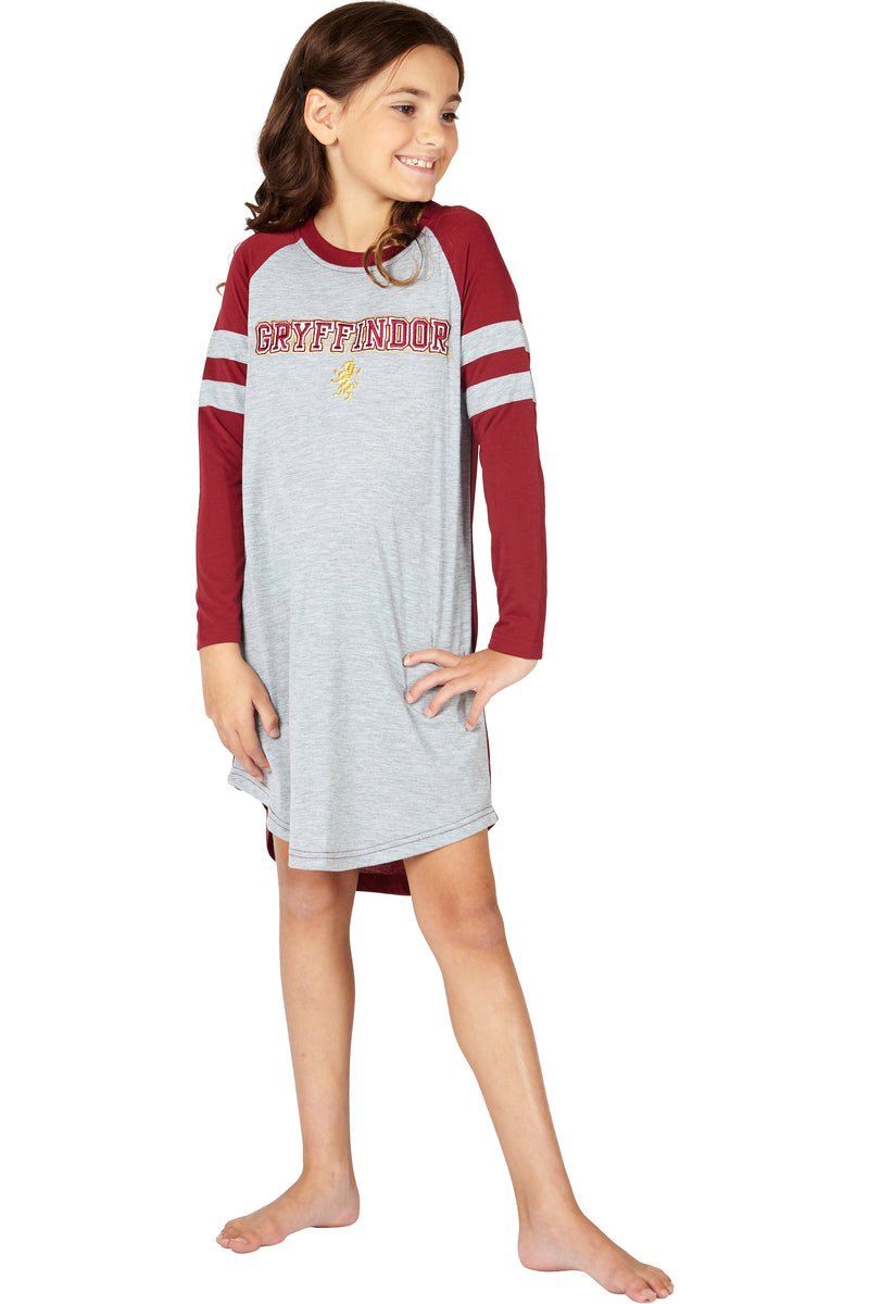 Harry Potter Hermione Varsity Gryffindor Quidditch Fantastic Pajama Holiday Nightgown