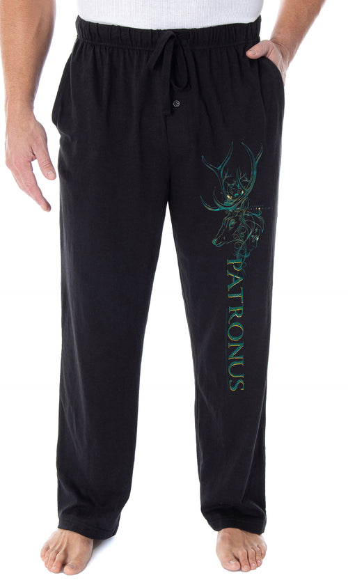 Harry Potter Pajama Pants Men's Expecto Patronum Stag Patronus Loungewear Sleep Pants