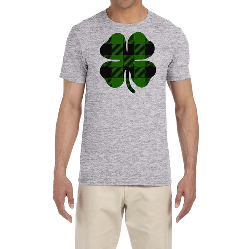 St. Patrick's Day Men's Shirt Plaid Shamrock Saint Paddy's Fun Irish T-Shirt Tee