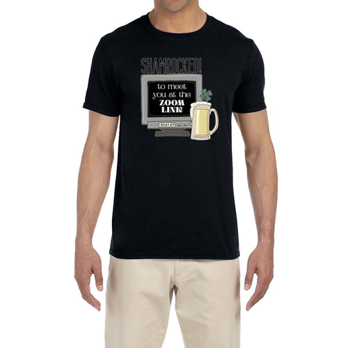 St. Patrick's Day Men's Shirt Irish Shamrocked To Meet You Funny Saying Drinking Tee T-Shirt
