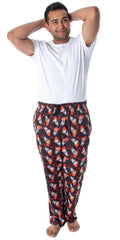 IT The Movie Men's Pennywise Clown Character Allover Pattern Lounge Sleep Pajama Pants