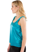 Intimo Womens Stretch Charmeuse Sleep Tank Top