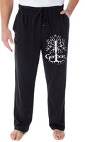Lord Of The Rings Men's White Tree Of Gondor Lounge Bottoms Pajama Pants