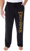 The Lord of the Rings Men's Film Trilogy Logo Sleepwear Lounge Bottoms Pajama Pants