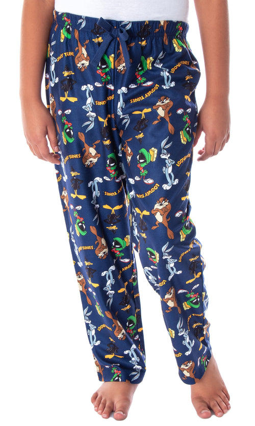 Looney Tunes Boys' Daffy Duck Bugs Bunny Taz Marvin Martian Allover Toss Print Lounge Sleep Pajama Pants