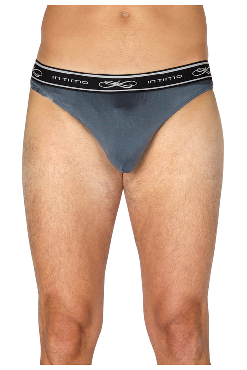 Intimo Mens Exposed Elastic Silk Thong