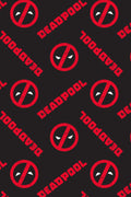 Marvel Mens' Deadpool Logo All Over Print Pajama Pants