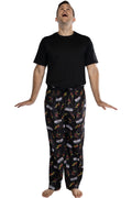 Marvel Men's Iron Man Retro Comic Allover Print Loungewear Pajama Pants