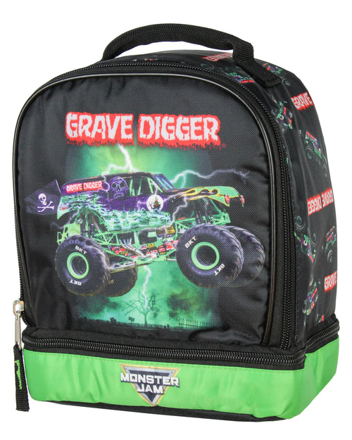Monster Jam Grave Digger Monster Truck Insulated Dual Compartment Lunch Bag Luch Box