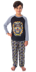 Monster Jam Boys' Maximum Destruction MAX-D Monster Truck Raglan Shirt And Pants 2 Piece Pajama Set