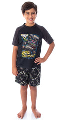 Monster Jam Boys' Pirate's Curse MAX-D Grave Digger Monster Truck Pajama Set