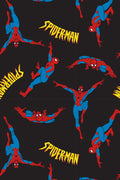 Marvel Comics Men's Spiderman Classic Comic Allover Print Loungewear Pajama Pants
