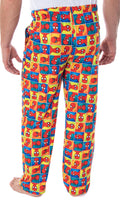 Marvel Men's Ultimate Spiderman Portrait Grid Print Adult Sleep Lounge Pajama Pants