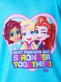 Polly Pocket Little Girls' Best Friends Are Stronger Together Shirt and Shorts 2 PC Pajama Set