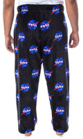 NASA Men's Meatball Logo Allover Print Ultra-Soft Plush Fleece Lounge Sleep Pajama Pants