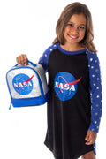 NASA Classic Meatball Detailed Logo Dual Compartment Insulated Lunch Box Bag Tote