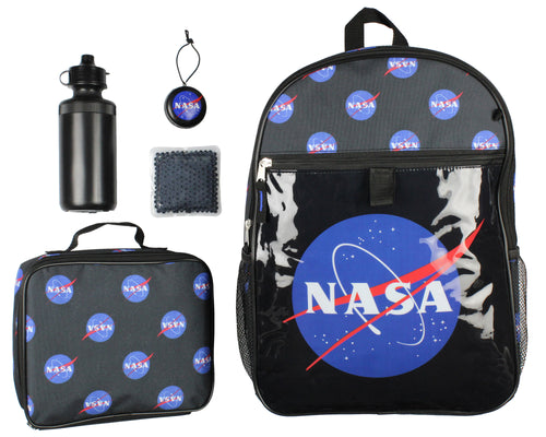 NASA Meatball Logo Backpack Lunch Bag Water Bottle Squishy Toy Ice Pack 5 PC Mega Set
