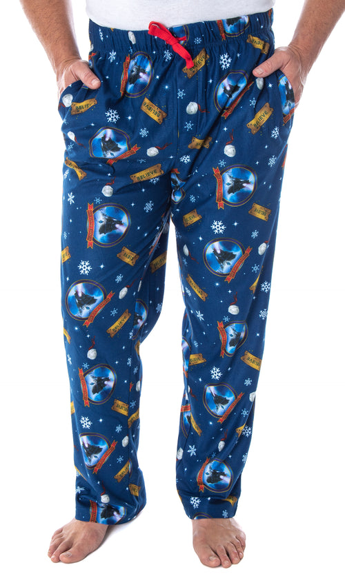 The Polar Express Men's Believe Train Ticket Woven Fleece Lounge Sleep Pajama Pants