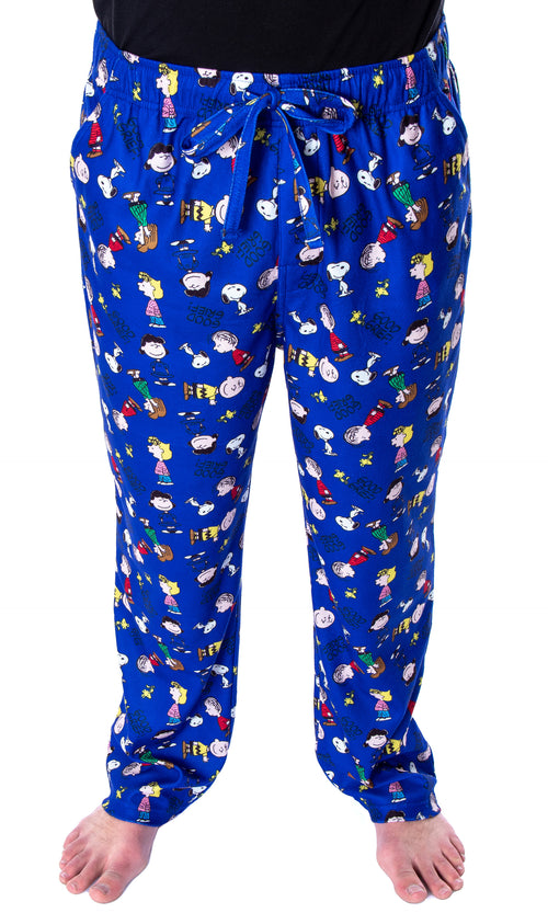 Peanuts Men's Good Grief! Allover Character Pattern Loungewear Sleep Pajama Pants