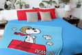 Peanuts Snoopy The Flying Ace And The Red Baron Dogfight Fleece Plush Silk Touch Throw Blanket