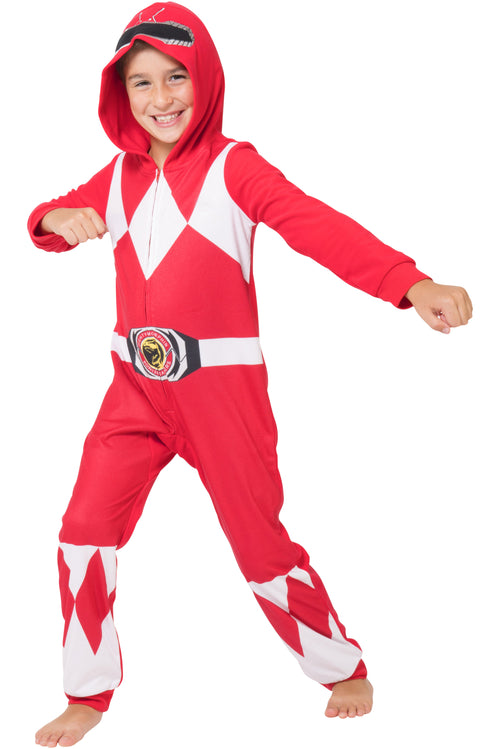 Power Ranger Toddler and Kids Red Mighty Morphin One Piece Pajama