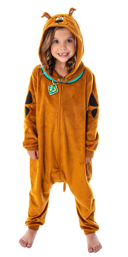 Scooby Doo Costume Kids Onesie Union Suit Sleeper Pajamas