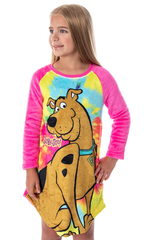 Scooby Doo Girls Tie-Dye Nightgown Pajamas