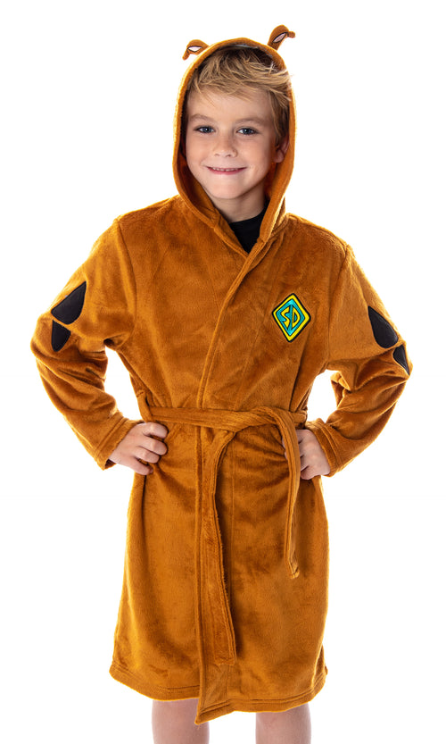 Scooby Doo Unisex Kids I Am Scooby Character Costume Ultra-Soft Plush Bathrobe Robe For Boys And Girls