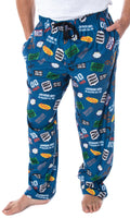Seinfeld TV Series Men's Show Themed Designs Allover Pattern Adult Sleep Pajama Pants