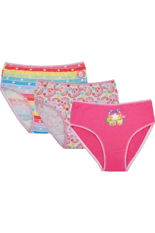 Shopkins Girls Underwear Rainbow Panties 3 Pack Briefs