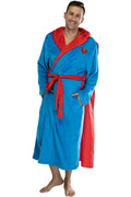 DC Comics Adult Superhero Plush Fleece Hooded Costume Robe