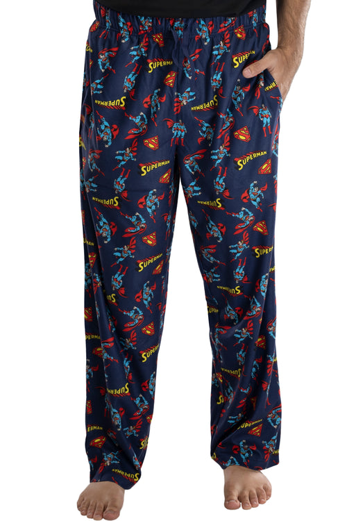 DC Comics Mens Superman All Over Print Loungewear Pajama Pants